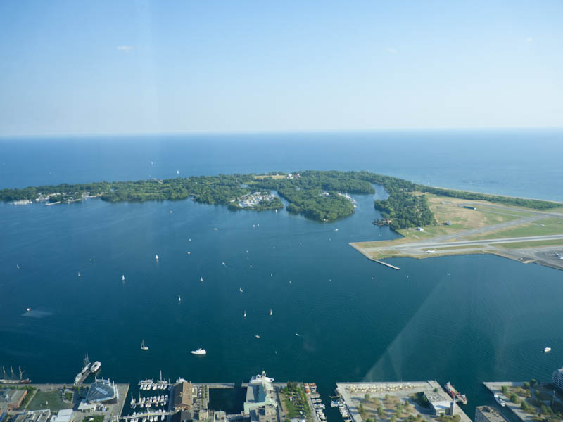 View of the Toronto Island from the CN Tower